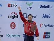 越南游泳女将阮氏映圆在美国游泳系列赛获得一枚银牌
