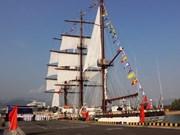 越南海军黎贵惇286号帆船升旗仪式在庆和省举行