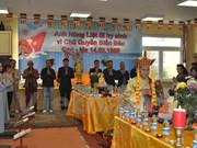 在波兰的越南佛教教会为越南英烈举行超度法会
