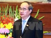 越南祖国阵线中央委员会主席会见越南医疗救助协会主席