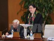 越南国会副主席丛氏放会见平顺省历届国会代表团