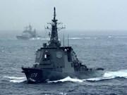 日本一潜艇两军舰访问菲律宾