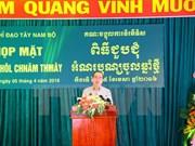 祖国阵线中央委员会主席阮善仁出席南部高棉族同胞新年见面会