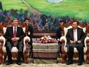 越南高级代表团对老挝进行正式访问
