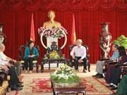 国会主席阮氏金银与奈省领导会面