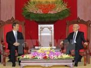 阮富仲总书记会见中国广西壮族自治区党委书记彭清华