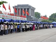 4·30和5·1假期期间逾6.3万人拜谒胡志明主席陵墓