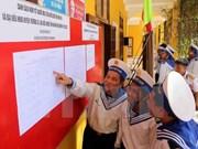 越南军船抵达长沙岛县生存岛开展换届选举筹备工作