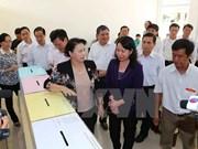 国会主席阮氏金银检查安江省国会和各级人民议会换届选举准备工作