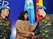 越南要争取国际社会在维和领域的有力支持