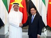 政府副总理兼外长范平明与阿联酋外交与国际合作部部长进行会谈