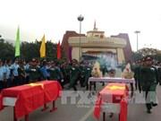在老挝牺牲的烈士遗骸安葬仪式在广治省隆重举行