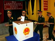 越南庆和省长沙县选民:把信心寄托在每一张选票上