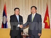 胡志明市领导人会见老挝总理通伦·西苏里