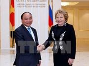越南政府总理阮春福会见俄罗斯联邦委员会主席马特维延科