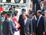 阮春福总理抵达日本名古屋市 开始对日本进行访问