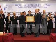 越南富布赖特大学正式揭牌成立
