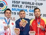 射击世界杯德国站:越南射击运动员黄春荣摘铜