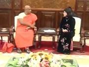 越南国家副主席会见斯里兰卡-越南团结协会代表团