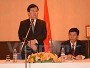 越南政府副总理郑廷勇探访越南驻日本大使馆