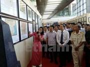 """""""黄沙与长沙归属越南:历史证据和法律依据""""资料图片展在永福省举行"""