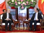 越南国家主席陈大光分别会见法国和印度国防部长