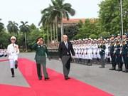 越法两国防长举行会谈一致同意推进各传统领域上的有效合作