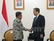 越南公安部长苏林对印度尼西亚进行工作访问