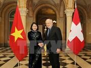 越南国家副主席邓氏玉盛对瑞士进行工作访问