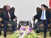 越南政府副总理郑庭勇会见古巴建设部部长雷内·梅萨