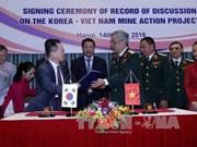 越韩两国配合解决战后遗留炸弹和地雷问题