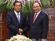 越南政府总理会见老挝计划投资部部长