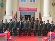 越南与老挝加强防务合作