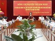 越南国会主席阮氏金银赴高平省调研