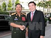 胡志明市领导会见老挝国防部部长