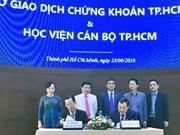 胡志明市干部学院同该市证券交易所加强合作