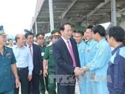 越南国家主席陈大光走访越南防空空军军种属下925团