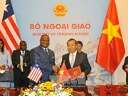 越南与利比里亚正式建立外交关系