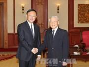 越共中央总书记阮富仲会见中国国务委员杨洁篪