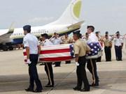 美国军人遗骸归国仪式在越南岘港市举行