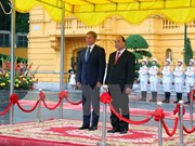 越南政府总理阮春福与罗马尼亚总理达契安•乔洛什举行会谈