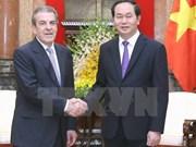 越南国家主席陈大光会见智利前总统爱德华多