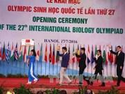 第27届国际生物奥林匹克竞赛开幕式在越南举行