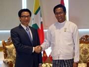 越南政府副总理武德儋会见缅甸副总统亨利班提育