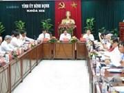 越共中央组织部部长范明正赴平定省调研