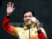 阮春福总理向越南体育代表团和射击选手黄春荣致贺电