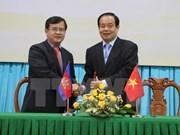 越南安江省与柬埔寨茶胶省和干丹省加强合作关系