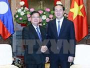 越南国家主席陈大光会见老挝国会副主席宋潘•平坎米