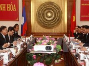 老挝国会副主席宋潘•平坎米访问清化省
