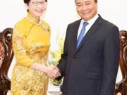 越南政府总理阮春福会见中国香港特别行政区政务司司长林郑月娥